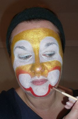 Creaviev clown stap 3