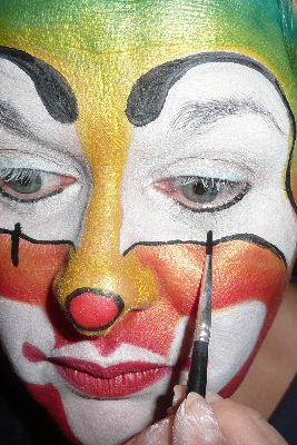 Creaviev clown stap 6